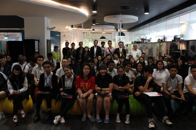 Group photo with students