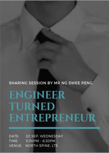 "Event Poster ""Engineer Turned Entrepreneur"""