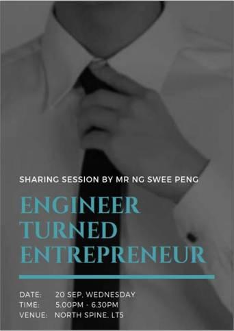 "Event Poster ""Engineer Turned Entrepreneur"""